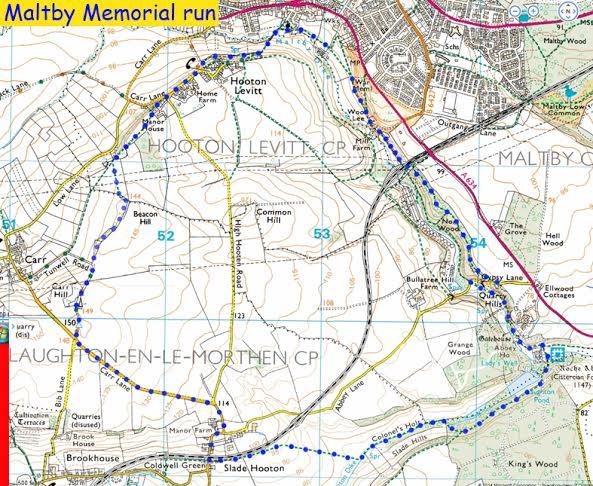 memorial race route map